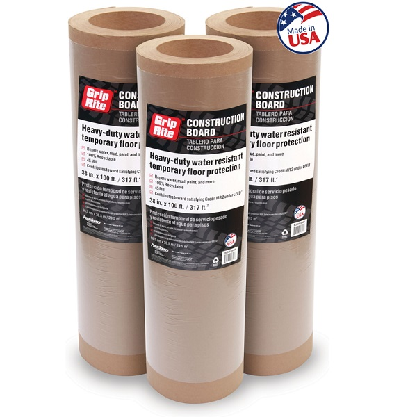Lámina de cartón reutilizable de trabajo pesado para la protección de pisos
