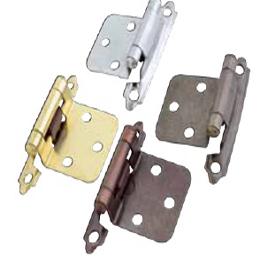 Bisagra de presión AB de acabado en latón antiguo con mecanismo de autocierre de