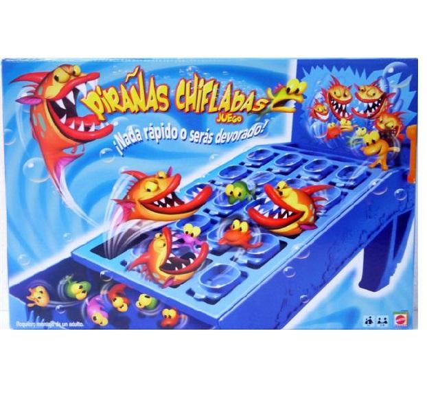 Juego de mesa para niños Pirañas Chifladas - Mattel Games