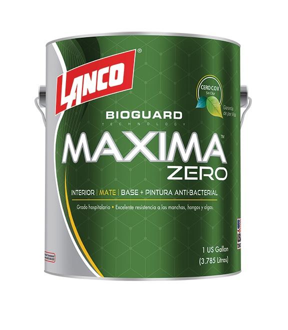 Pintura antibacterial Maxima Zero 1 galón (3.78 litros) LANCO