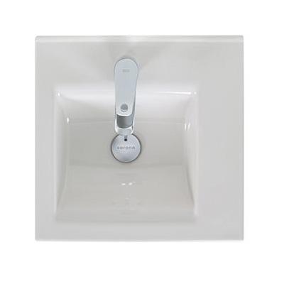 Lavamanos de porcelana de 45cm modelo Pontus  de color blanco CORONA
