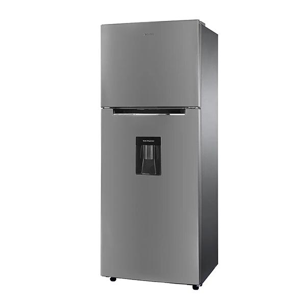 Refrigerador Top Mount de 2 puertas con capacidad de 368L color gris NISATO