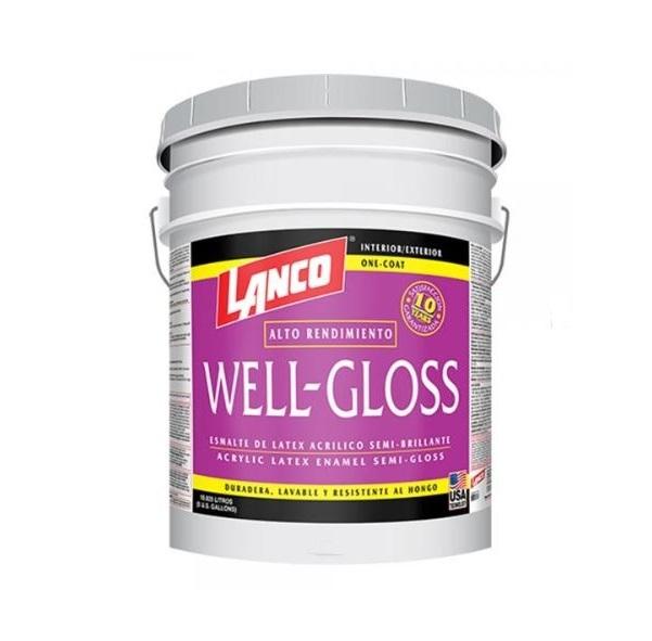 Pintura de látex acrílica well gloss de base deep de 5gl LANCO
