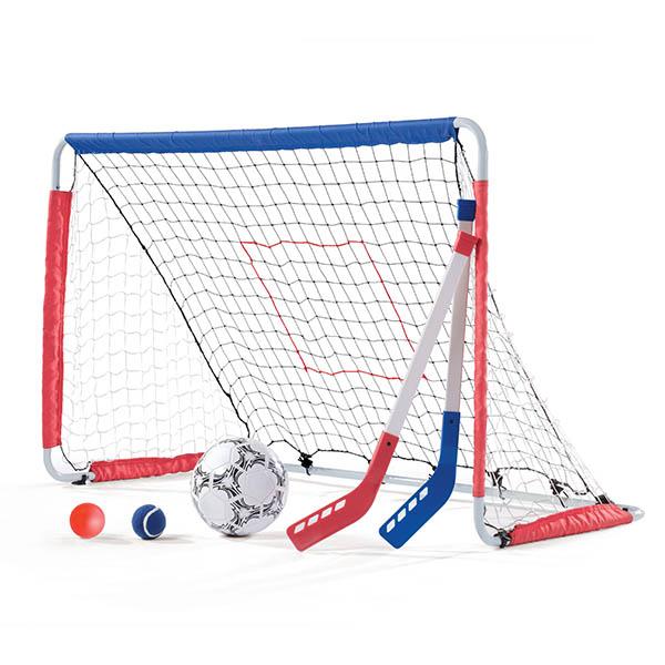 Juego de 3 en 1 Fútbol, Hockey y Lanzamiento para niños STEP 2