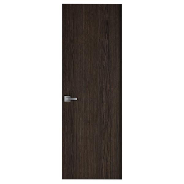 Puerta laminada de 2' x 7' de color chocolate oscuro