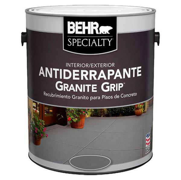 Pintura antiderrapante para pisos Granite Grip color beige de 1gl BEHR