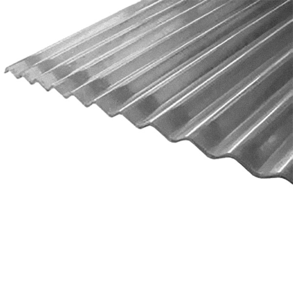 """Lámina de zinc corrugado de 42"""" x 16' calibre 26 acabado galvanizado color gris"""
