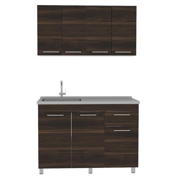 Mueble de cocina + lavaplatos modelo Bazagli 120 de color Habano RTA