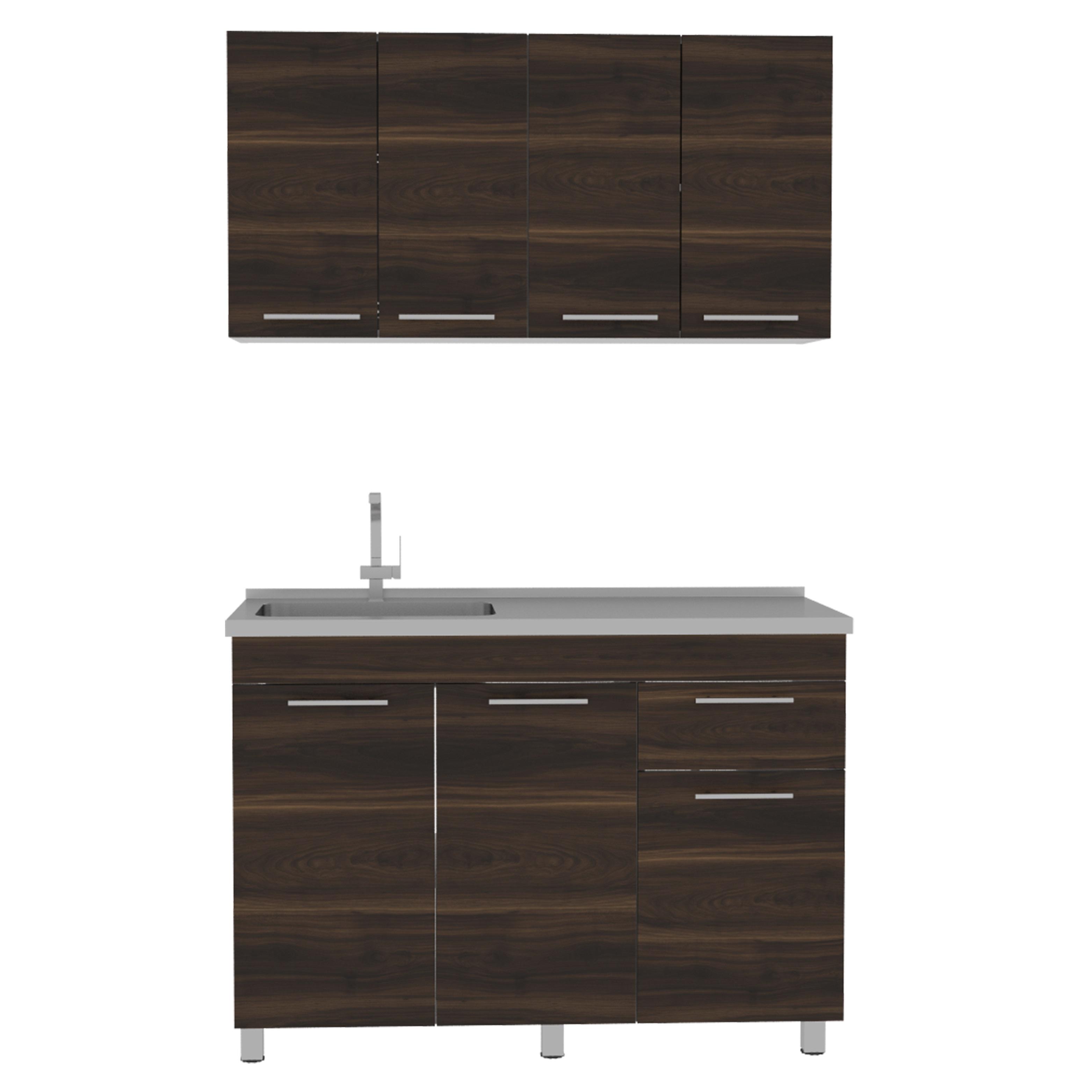 Mueble de cocina + lavaplatos Superior 60cm x 120cm x 28.6cm Inferior 86cm x 120