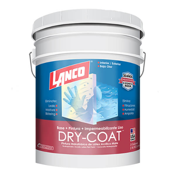 Pintura 3 en 1 Dry Coat Base Deep 5 galones (18.92 litros) LANCO