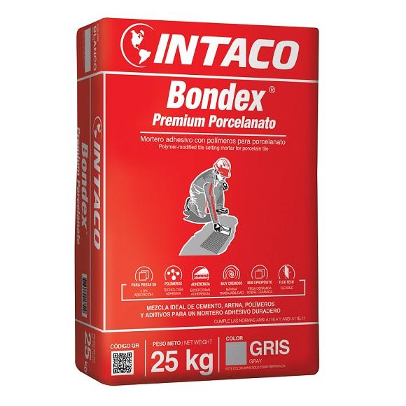 Pegamento Bondex Premium Porcelanato de 25kg adhesivo con polímeros para porcela