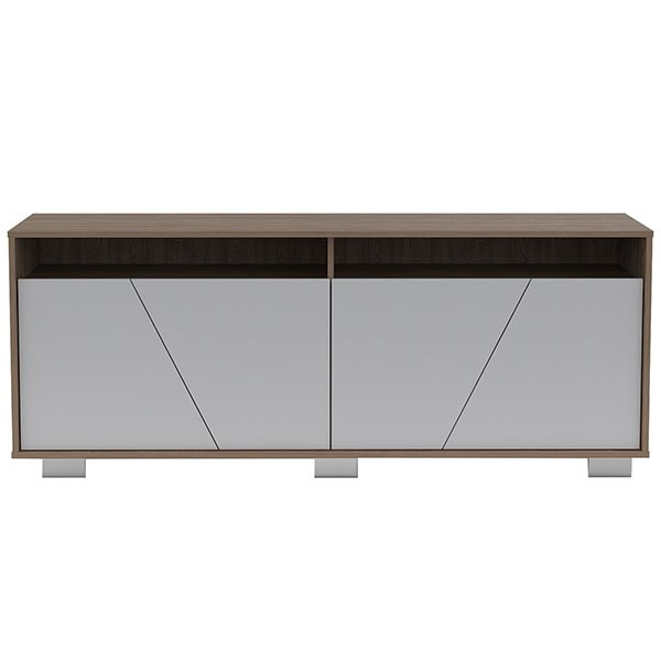 Mueble para TV fraktal de 61.3cm x 155.5cm x 39.6cm color blanco y crema MUEBLES