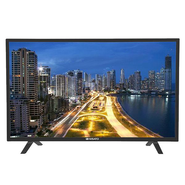 "Televisor Smart HD de 43"" con pantalla plana de color negro NISATO"