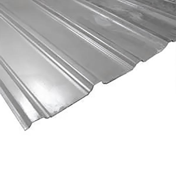 "Zinc de canal ancho galvanizado color gris de 42"" x 16' de calibre 26"