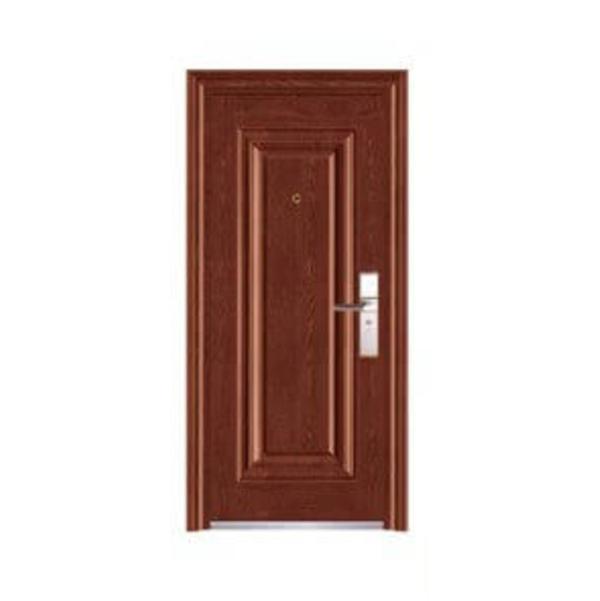 Puerta de metal de 3' x 7'  modelo Malva con apertura derecha de color wengue