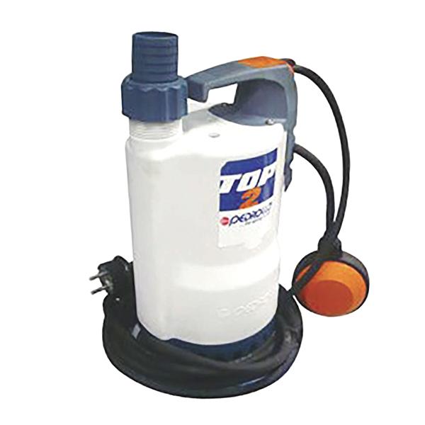 Electrobomba sumergible Top 2 para drenaje de aguas claras con potencia de 0.50H