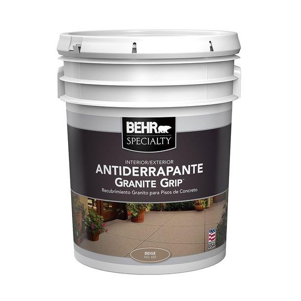 Pintura antiderrapante para pisos Granite Grip color beige de 5gl BEHR