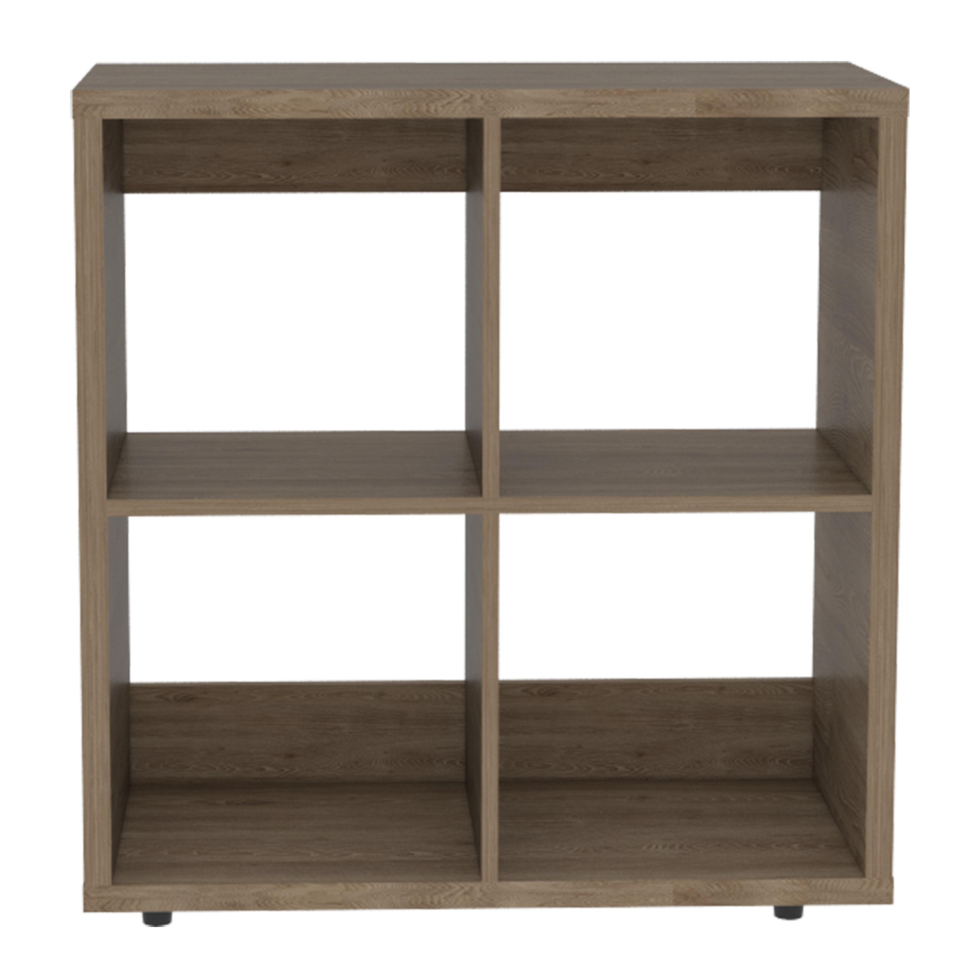 Mueble biblioteca pequeña de 75cm x 73.1cm x 34cm modelo Tanger de color miel RT
