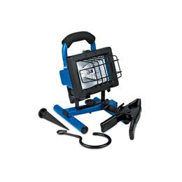 Lampara halógena de trabajo de plástico de 250W y 120V para exterior color azul