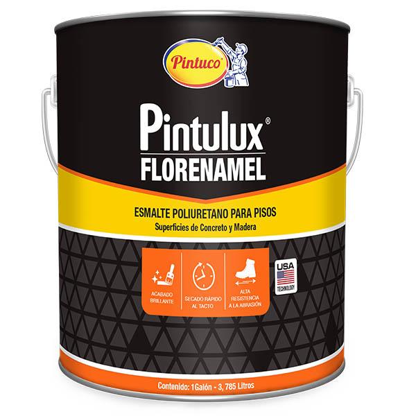 Esmalte poliuretano para pisos de concreto y madera rojo pintulux x1 galón pintu