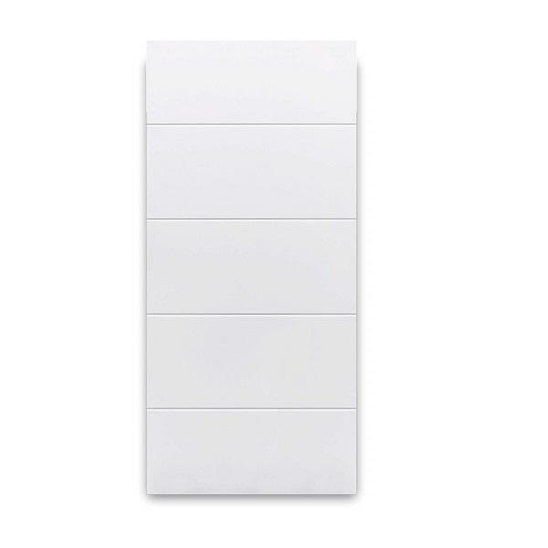 Puerta de metal toscana de 2' x 7' de color blanco