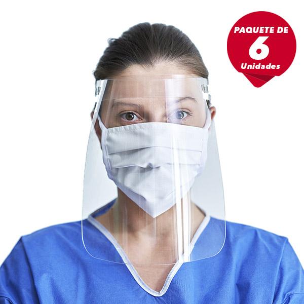 Máscara transparente de protección para el rostro 6 UNIDADES