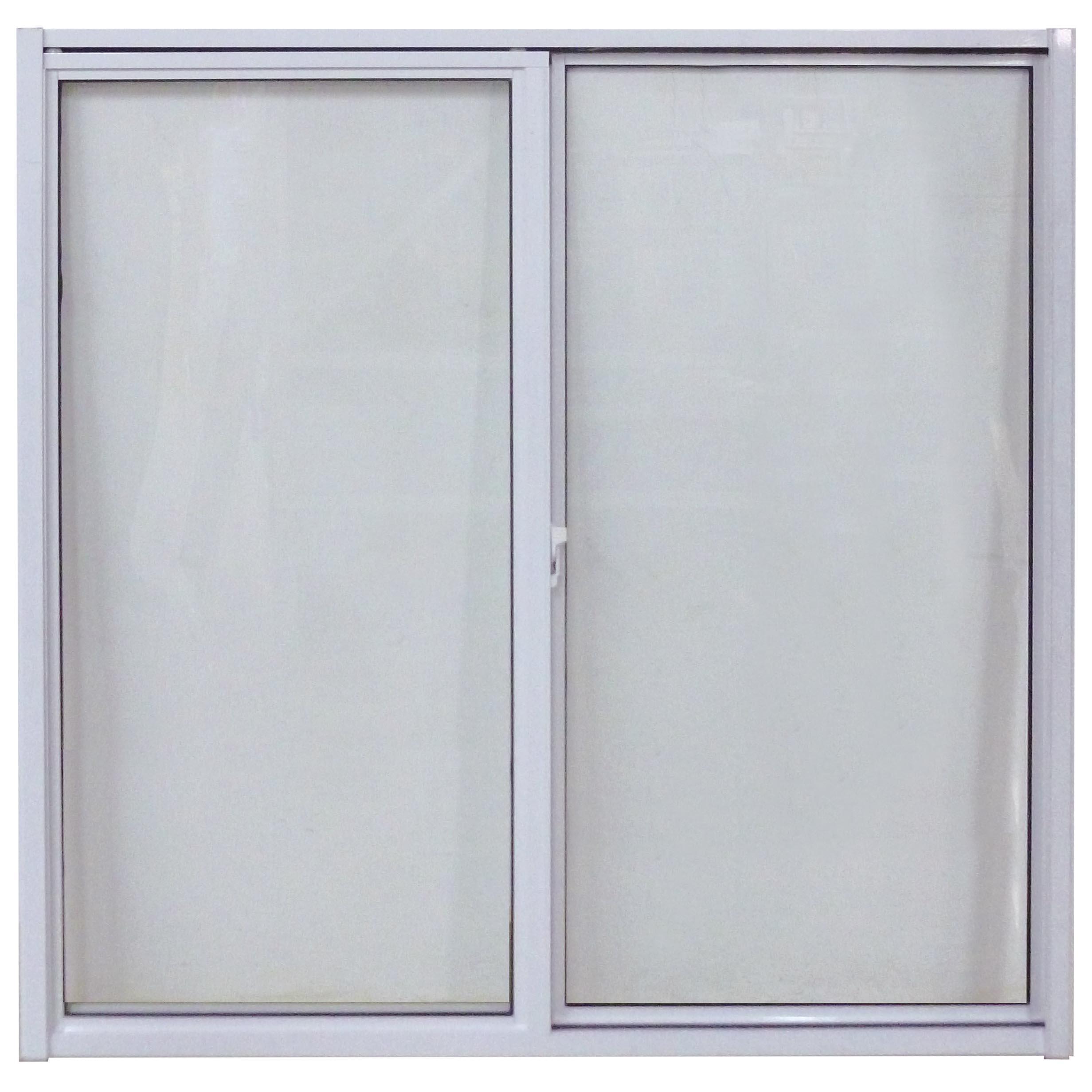 Ventana sencilla de 1.5m x 1.2m corrediza de aluminio color blanco