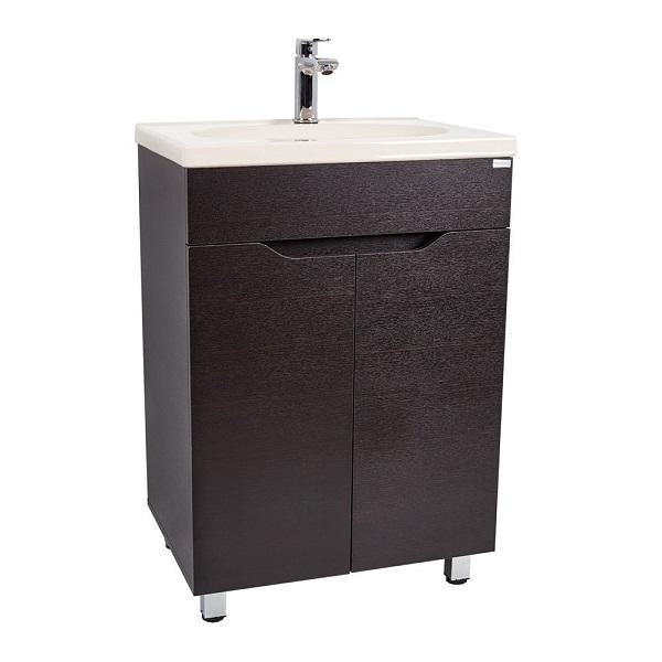 Mueble de baño teresina con lavamano eclipse color wengue oscuro