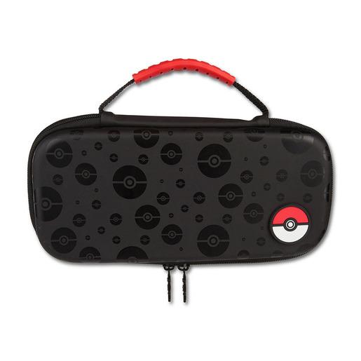Estuche protector Poke bola para Nintendo Switch de color negro  POWER A