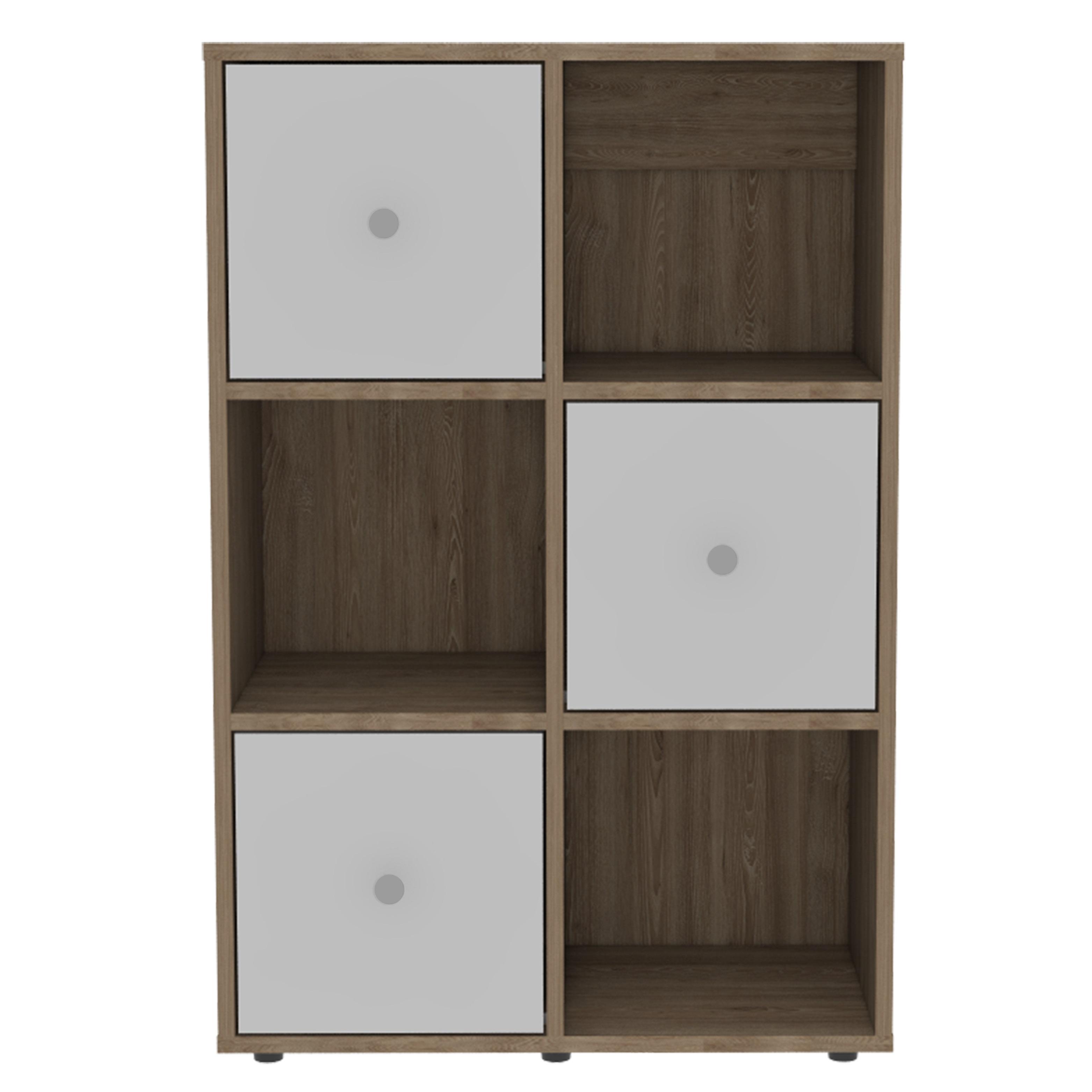 Mueble organizador modelo Vega 89.6cm x 59.3cm x 28.6cm color miel/blanco RTA