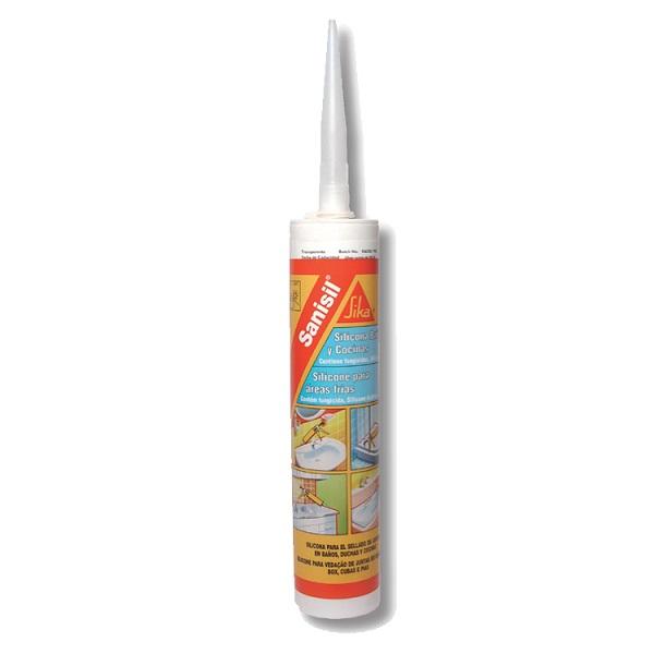 Sika sanisil silicona para baños y cocina áreas frías blanco x300ml