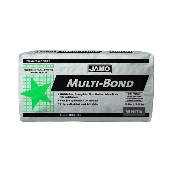 Pegamento Multibond de 22.68kg modificado con polímeros color blanco JAMO