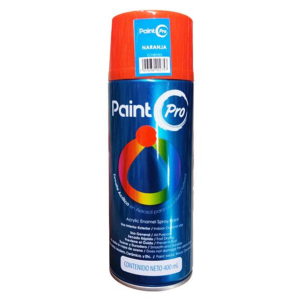 Esmalte acrílico en aerosol para interiores y exteriores naranja x400 mililitros