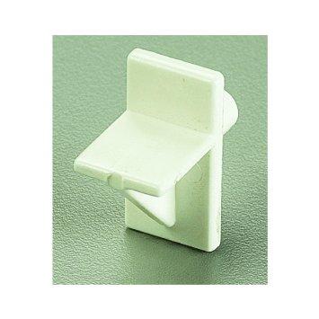 """Soporte de 1/4"""" x 7/16"""" de plástico color blanco KNAPE Y VOGT"""