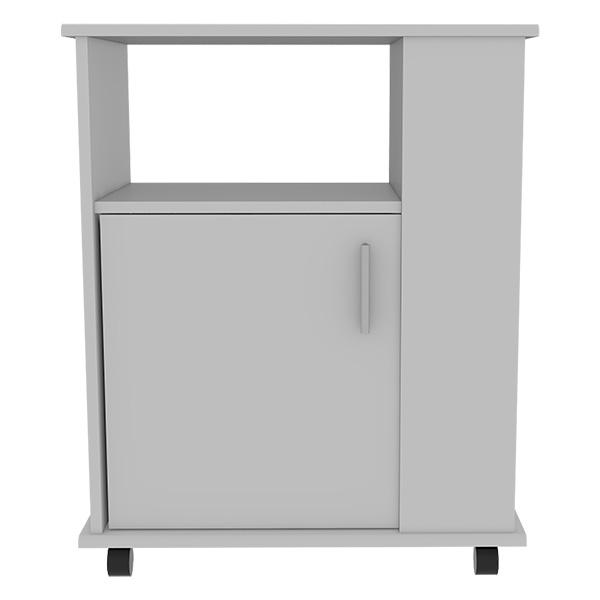 Mueble módulo microondas de 74.5cm x 60cm x 40cm modelo bajo kit de color blanco