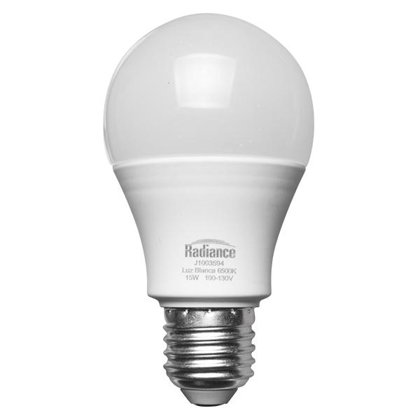 Bombillo led de 15W A65 luz blanca RADIANCE