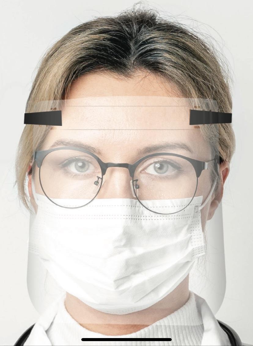 Máscara transparente protectora de rostro DURA