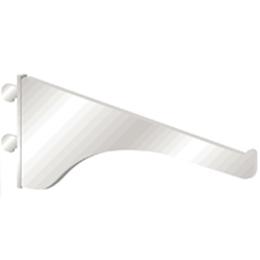 """Brazo de riel de 18"""" de metal decorativo para tablillas de color plateado KNAPE"""