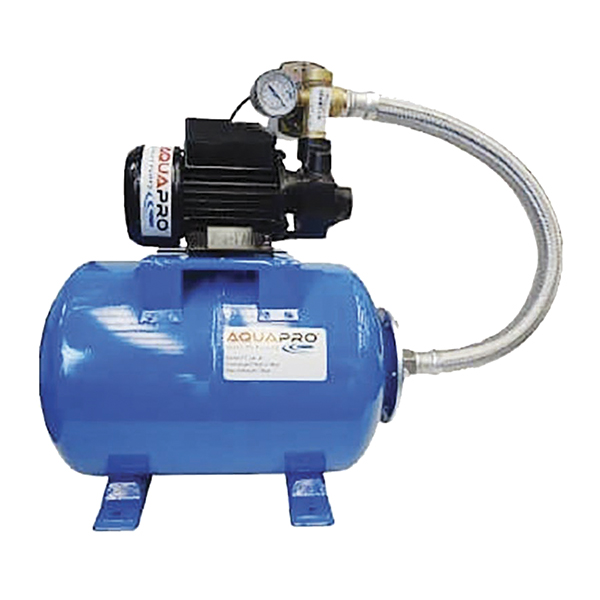 Bomba para agua periférico de 120V con potencia de 0.50HP y tanque de presión de
