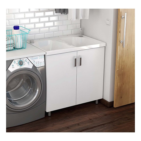 Mueble lavarropa 90x60 blanco