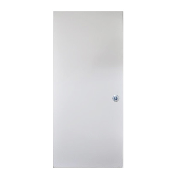 Puerta de metal lisa de 3' x 7' de color blanco VISOR