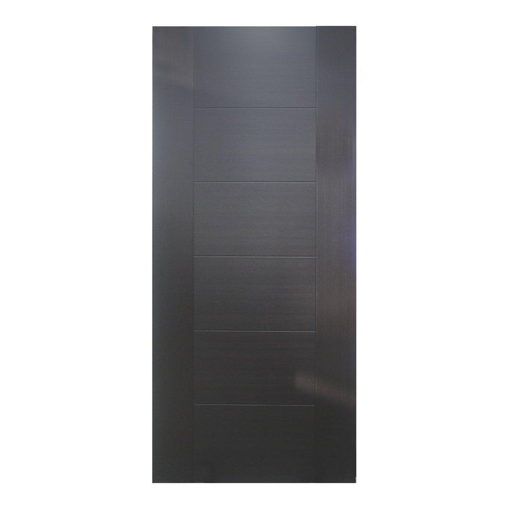 Puerta de 2' x 7' modelo Amparo para uso interior de color Wengue