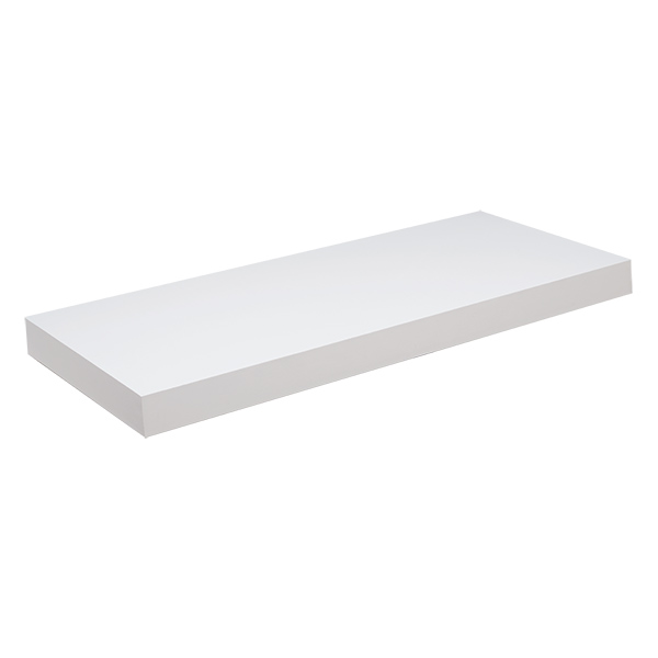 Tablilla recta Tendeza de 4cm x 25cm x 60cm color blanco PRAT K