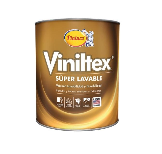 Pintura acrílica Viniltex Super Lavable mate color blanco 1 galón (3.785 litros)