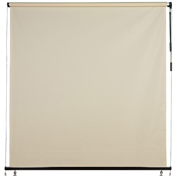 Toldo retráctil de 2m x 3m vertical para exterior color crema