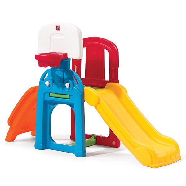 Juego de patio Game Time Sports con tobogán para niños STEP 2
