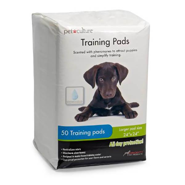 """Pad de entrenamiento de 24"""" x 24"""" para perros empaque de 50 unidades"""