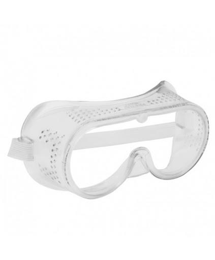 Monogafas de seguridad de ventilación directa transparente
