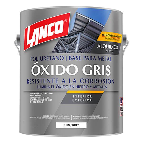 Pintura anticorrosiva Óxido Gris de acabado mate de 1/4 galón (0.946 litros) LAN