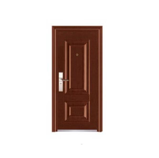 Puerta de metal dalia con apertura izquierda de 3' x 7' de color chocolate wengu